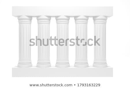 3d antique classic architecture Greek Roman wall grunge render Stock photo © Melvin07