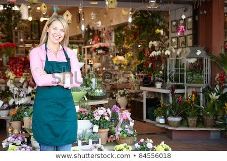 Horizontal image of female florist Stock photo © photography33