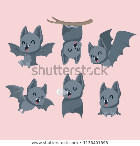 Cute Cartoon Bat Stock photo © indiwarm