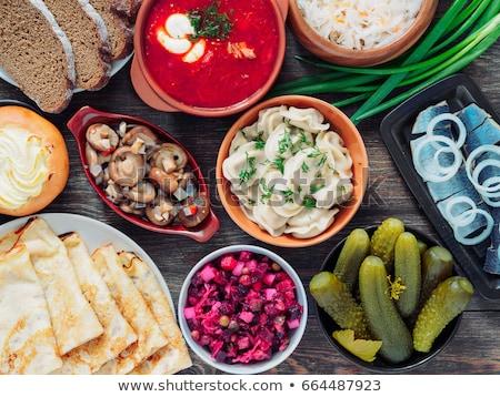 Traditional Russian food Stock photo © ozaiachin