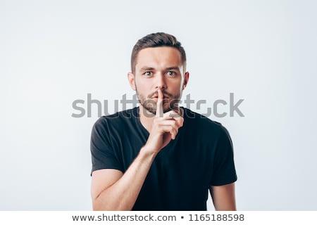 işadamı · sessiz · yüz · dudaklar · kurumsal - stok fotoğraf © photography33