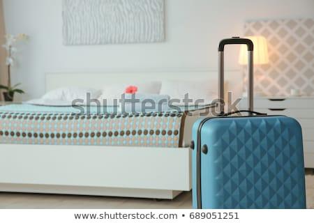 konuk · oda · 3D · görüntü · ahşap · mobilya - stok fotoğraf © filipok