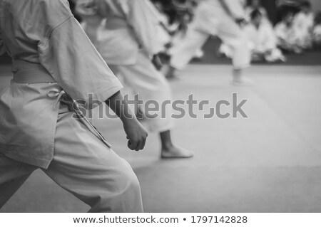 çocuk · erkek · kimono · eğitim · karate - stok fotoğraf © ia_64