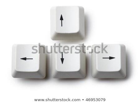 Four Keyboard Arrow Keys On White Background Stock fotó © pzAxe