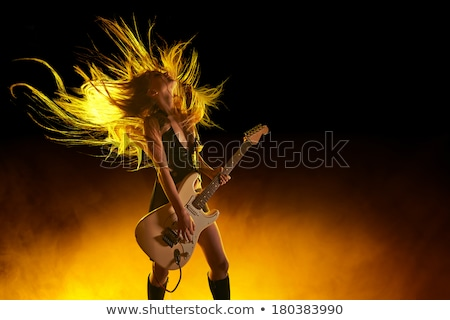 girl rocking the guitar stock photo © photography33