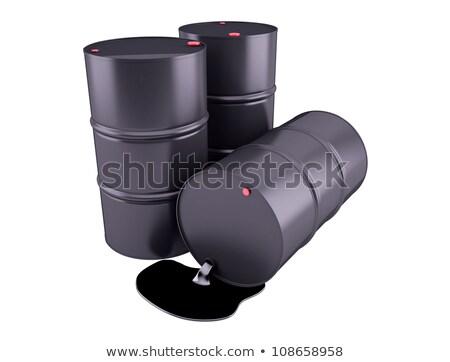 Barrels of oil on white background. 3D render clipart Stock photo © Nobilior