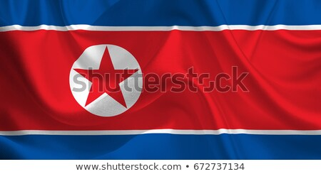 Zdjęcia stock: North Korea Retro Flag