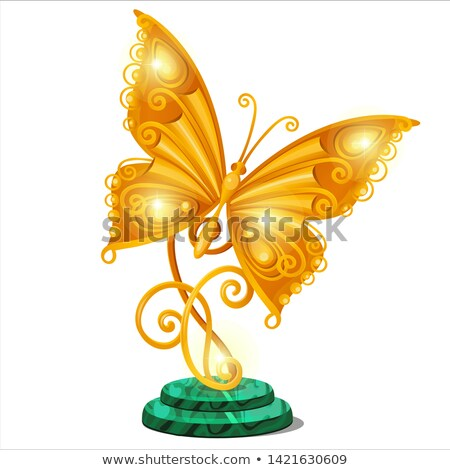 Stand For Jewelry Statuette With Wings Stok fotoğraf © lady-luck