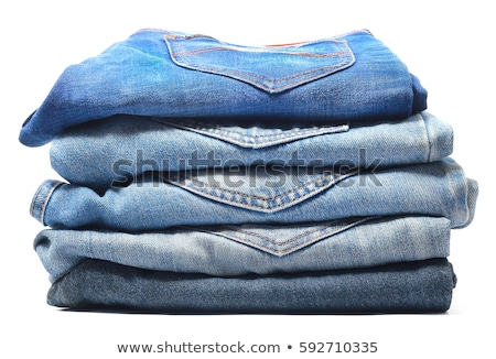 stack of blue jeans stock photo © taigi
