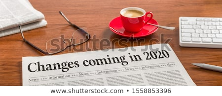 Stock photo: Headline Change