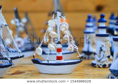 modelo · vikingo · barco · aislado · blanco · madera - foto stock © foka