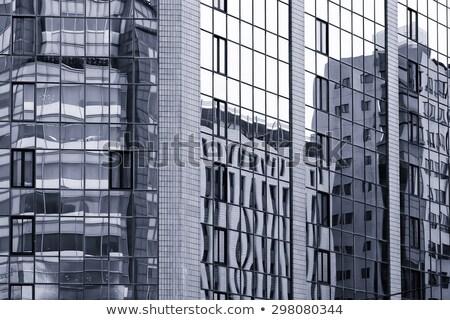 Vervormd gebouw tijdgenoot futuristische abstract Stockfoto © sirylok
