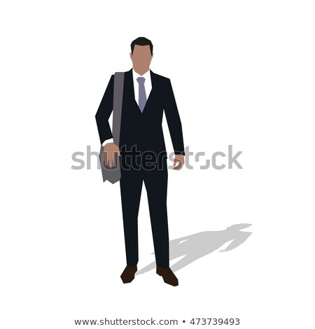 Foto stock: Young Business With Suitcase On His Shoulder