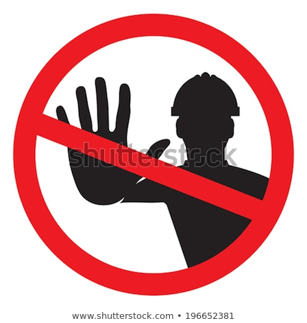Worker with a No Entry sign Stock photo © photography33