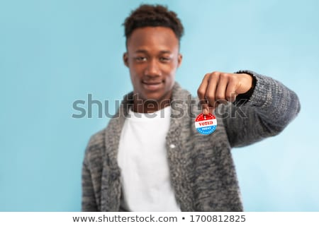 Mid Adult Man Voting Stock photo © lisafx