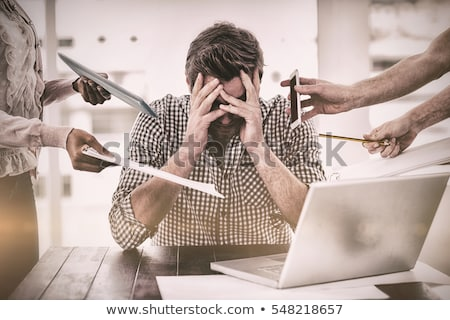 An overwhelmed businessman. Stock photo © photography33