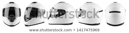 Versenyzés sisak motorkerékpár fej verseny Stock fotó © shutswis