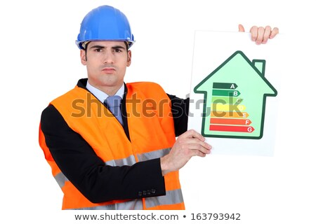 Surveyor holding energy rating poster Stock photo © photography33