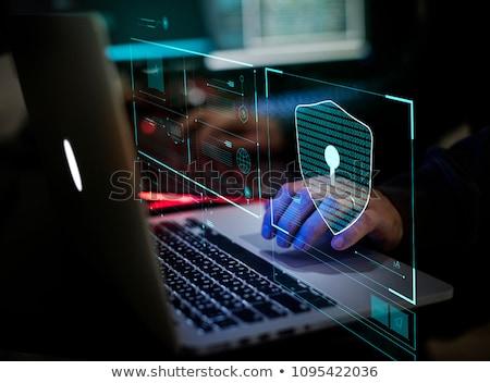 ноутбука безопасности блокировка изолированный компьютер Сток-фото © HectorSnchz