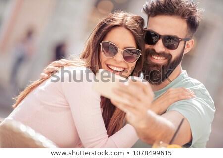 Couple having great time Stock photo © konradbak