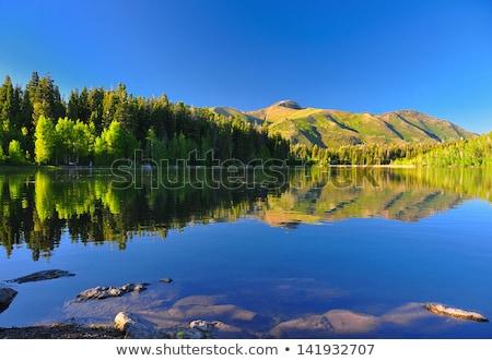 Foto stock: Sereno · lago · Utah · belo · reflexão · montanha