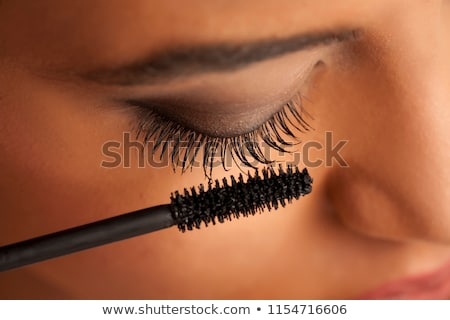 Femme mascara beauté bain Homme studio Photo stock © photography33