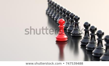 表現の · 小さな · ビジネスマン · 思考 · 孤立した · 白 - ストックフォト © zittto