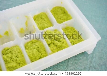 アイスキューブ ニンニク 孤立した 白 ガラス 野菜 ストックフォト © Givaga