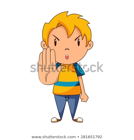 Zangado sinal de parada vetor desenho animado Foto stock © pcanzo