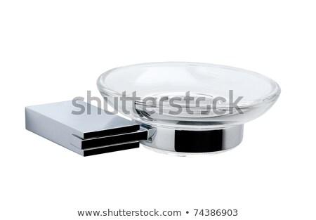 Aluminum glass holder bathroom accessories  Stock photo © JohnKasawa