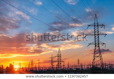 électricité génération ciel bleu ciel technologie métal Photo stock © Rob300