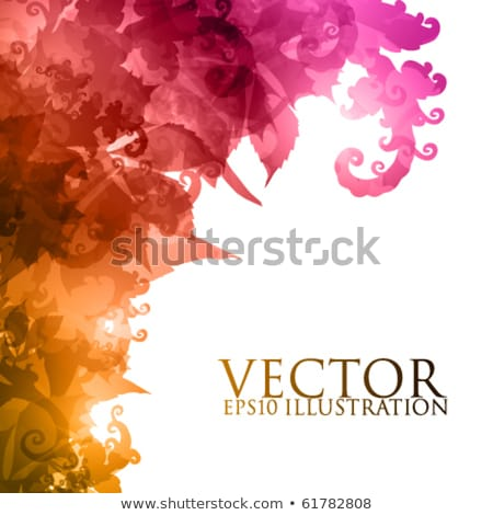 Abstract floral design in light purple. Vector illustration. stock photo © prokhorov