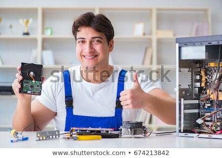 abierto · ordenador · caso · hardware · servicio - foto stock © oleksandro