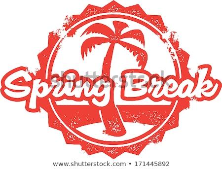 Spring Break Vacation Stamp Stock photo © squarelogo