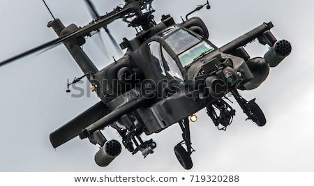 военных вертолета полет драматический красный небе Сток-фото © EcoPic