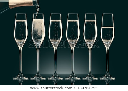 champagne · fles · glas · zwarte · abstract - stockfoto © forgiss