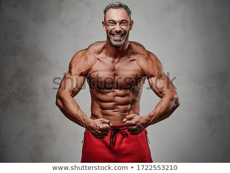 bodybuilder flexing Stock photo © csakisti