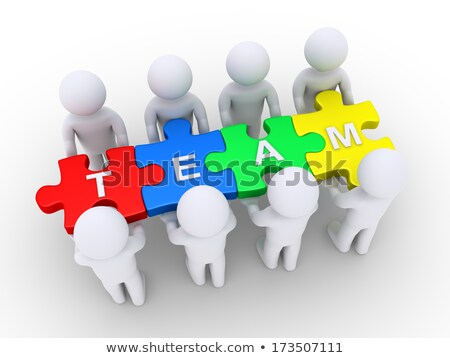 3D People holding  Puzzle Stock photo © Quka