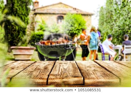 Outside Kitchen Barbeque Stock photo © ozgur