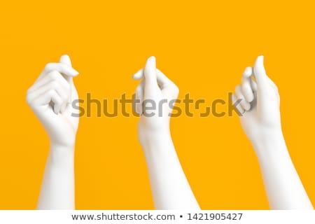 Sculptuur handen goud geïsoleerd witte Stockfoto © smuki