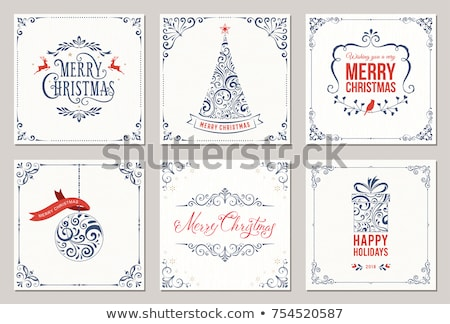Stock photo: christmas tree flourish illustration