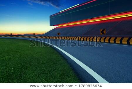 Motobike sunset - 3D render Stock photo © Elenarts