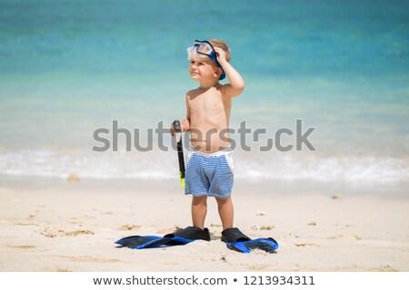 Child goes snorkeling Stock photo © cteconsulting