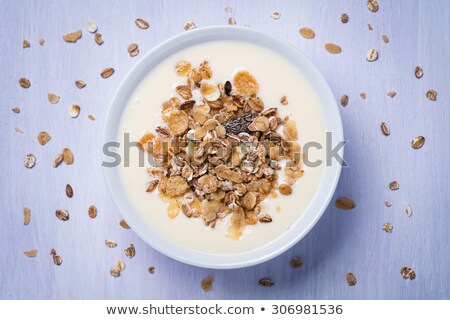 raspberry yoghurt muesli from top stock photo © Rob_Stark