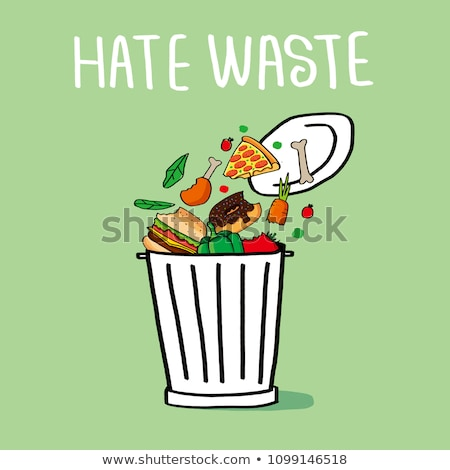 Stop wasting food concept Stock photo © Ansonstock