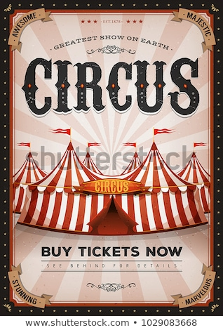 Stock photo: Circus Poster Red Vintage