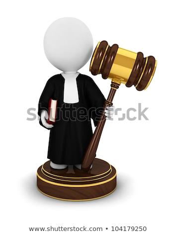 Stock photo: 3d white person judge.