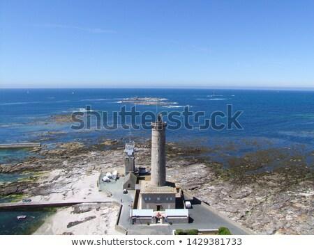 старые Маяк впечатляющий побережье закрывается пляж Сток-фото © CaptureLight