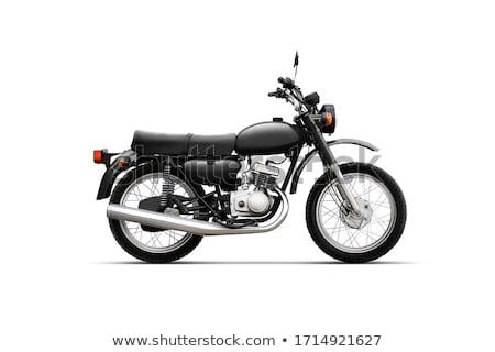 Clássico motocicleta isolado branco estúdio vermelho Foto stock © Supertrooper