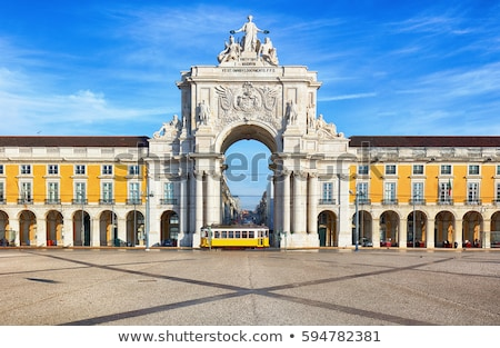 praca do comercio square in lisbon portugal stock photo © travelphotography